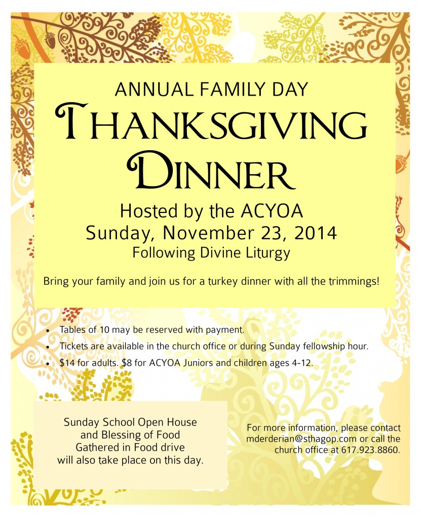 Family Day 2014 Flyer