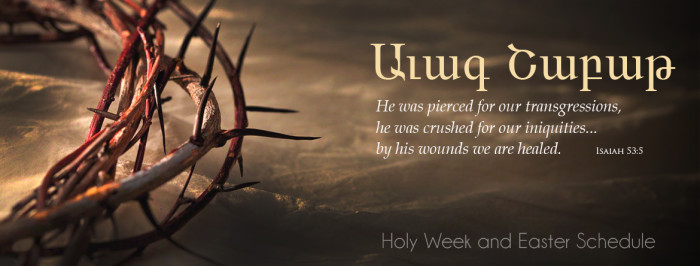 Holy Week Schedule of Services