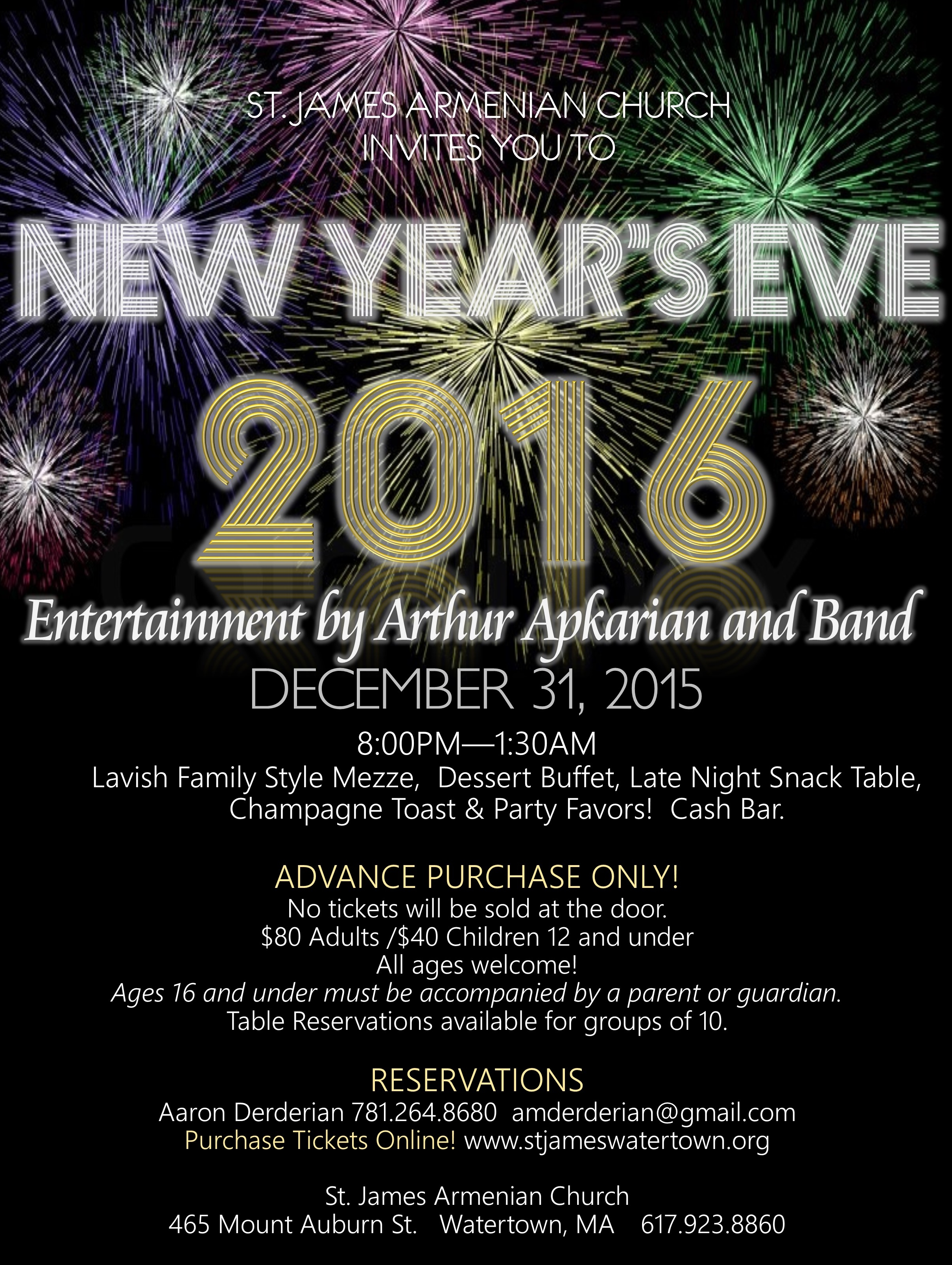 Upcoming Events 2016 New Year S Eve Celebration