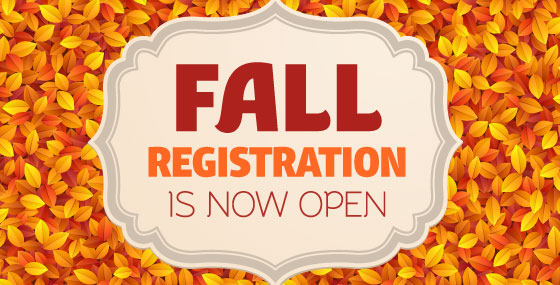 Fall Enrollment Now Open